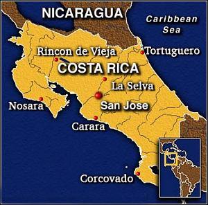 waar ligt costa rica
